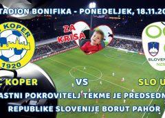 FC Koper dobrodelno za Krisa